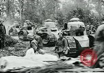 Image of American troops and French tanks in World War I France, 1918, second 11 stock footage video 65675044427
