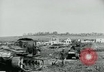 Image of British Medium Mk A tanks France, 1918, second 8 stock footage video 65675044429