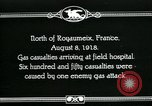 Image of First World War American gas casualties France North of Royaumeix, 1918, second 1 stock footage video 65675044435