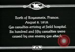 Image of First World War American gas casualties France North of Royaumeix, 1918, second 2 stock footage video 65675044435