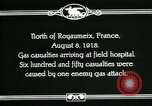 Image of First World War American gas casualties France North of Royaumeix, 1918, second 6 stock footage video 65675044435