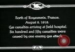 Image of First World War American gas casualties France North of Royaumeix, 1918, second 8 stock footage video 65675044435
