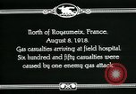 Image of First World War American gas casualties France North of Royaumeix, 1918, second 9 stock footage video 65675044435