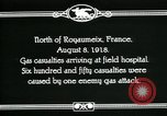 Image of First World War American gas casualties France North of Royaumeix, 1918, second 10 stock footage video 65675044435