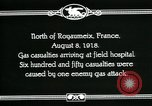 Image of First World War American gas casualties France North of Royaumeix, 1918, second 11 stock footage video 65675044435