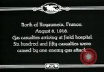 Image of First World War American gas casualties France North of Royaumeix, 1918, second 12 stock footage video 65675044435