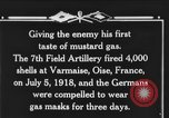Image of 7th Field Artillery Regiment Oise France, 1918, second 2 stock footage video 65675044466