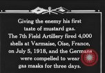 Image of 7th Field Artillery Regiment Oise France, 1918, second 4 stock footage video 65675044466