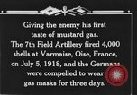 Image of 7th Field Artillery Regiment Oise France, 1918, second 8 stock footage video 65675044466