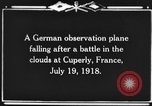 Image of German observation plane Cuperly France, 1918, second 1 stock footage video 65675044469
