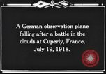 Image of German observation plane Cuperly France, 1918, second 6 stock footage video 65675044469