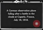 Image of German observation plane Cuperly France, 1918, second 8 stock footage video 65675044469