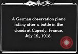 Image of German observation plane Cuperly France, 1918, second 9 stock footage video 65675044469