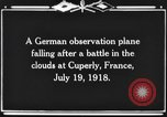Image of German observation plane Cuperly France, 1918, second 12 stock footage video 65675044469