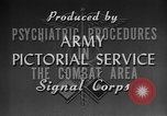 Image of Treatment for psychiatric combat stress in World War 2 Italy, 1944, second 10 stock footage video 65675044515