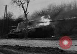 Image of German 12 SS tiger tanks and other armor burning Saint Vith Belgium, 1944, second 9 stock footage video 65675044526