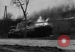 Image of German 12 SS tiger tanks and other armor burning Saint Vith Belgium, 1944, second 10 stock footage video 65675044526