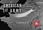 Image of American 1st Army Roetgen Germany, 1944, second 1 stock footage video 65675044542
