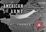 Image of American 1st Army Roetgen Germany, 1944, second 2 stock footage video 65675044542