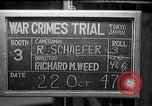 Image of war crimes trials Tokyo Japan, 1947, second 1 stock footage video 65675044595