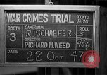 Image of war crimes trials Tokyo Japan, 1947, second 2 stock footage video 65675044595