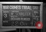 Image of war crimes trials Tokyo Japan, 1947, second 4 stock footage video 65675044595