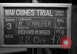 Image of war crimes trials Tokyo Japan, 1947, second 5 stock footage video 65675044595