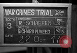 Image of war crimes trials Tokyo Japan, 1947, second 10 stock footage video 65675044595