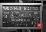 Image of war crimes trials Tokyo Japan, 1947, second 2 stock footage video 65675044596