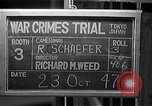 Image of war crimes trials Tokyo Japan, 1947, second 3 stock footage video 65675044596