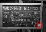 Image of war crimes trials Tokyo Japan, 1947, second 4 stock footage video 65675044596