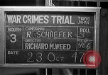 Image of war crimes trials Tokyo Japan, 1947, second 6 stock footage video 65675044596