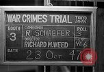 Image of war crimes trials Tokyo Japan, 1947, second 7 stock footage video 65675044596