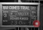 Image of war crimes trials Tokyo Japan, 1947, second 9 stock footage video 65675044596