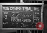 Image of war crimes trials Tokyo Japan, 1947, second 10 stock footage video 65675044596