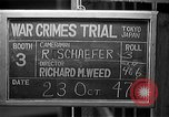 Image of war crimes trials Tokyo Japan, 1947, second 12 stock footage video 65675044596
