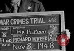Image of war crimes trials Tokyo Japan, 1948, second 1 stock footage video 65675044598