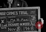 Image of war crimes trials Tokyo Japan, 1948, second 4 stock footage video 65675044598