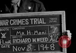 Image of war crimes trials Tokyo Japan, 1948, second 7 stock footage video 65675044598