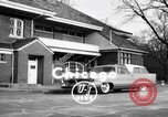Image of 1956 Chrysler Plymouth Plainsman station wagon car by Ghia  Chicago Illinois USA, 1956, second 1 stock footage video 65675044718