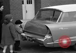 Image of 1956 station wagon with power automated features Chicago Illinois USA, 1956, second 11 stock footage video 65675044718