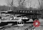 Image of folding bridge Virginia United States USA, 1955, second 5 stock footage video 65675044721