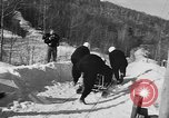 Image of Olympic bobsled trials Lake Placid New York USA, 1955, second 11 stock footage video 65675044724