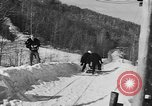 Image of Olympic bobsled trials Lake Placid New York USA, 1955, second 12 stock footage video 65675044724