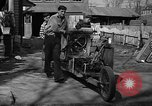Image of home-made steam-powered automobile Jamesburg New Jersey USA, 1940, second 5 stock footage video 65675044738