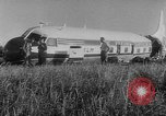 Image of crashed airliner Holland Netherlands, 1953, second 10 stock footage video 65675044740