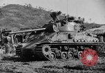 Image of US Army M4 Sherman tanks in Korean War Korea, 1952, second 1 stock footage video 65675044764