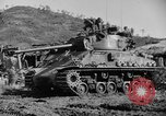 Image of US Army M4 Sherman tanks in Korean War Korea, 1952, second 2 stock footage video 65675044764