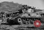 Image of US Army M4 Sherman tanks in Korean War Korea, 1952, second 3 stock footage video 65675044764