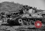 Image of US Army M4 Sherman tanks in Korean War Korea, 1952, second 4 stock footage video 65675044764